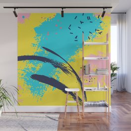 Yellow contrast splash Wall Mural