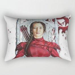 "Katniss Everdeen Mockingjay Part 2 ""I Kill Snow"" | Drawing Rectangular Pillow"