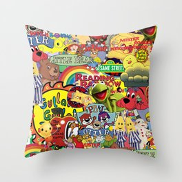 Kids shows from our Childhood Throw Pillow