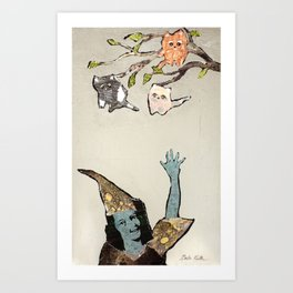 The Kitten Tree Art Print