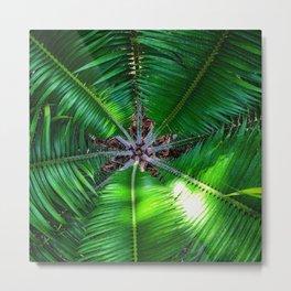 Inside a Palm Metal Print
