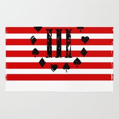 Three Percenter Aces USA Flag Rug