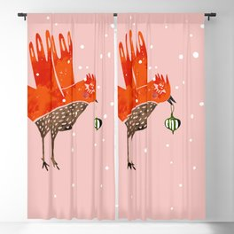 Christmas Bird - illustration Blackout Curtain