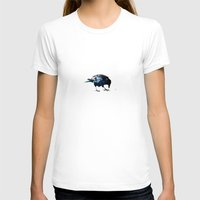 crow T-shirts featuring Crow by Ridi Simone