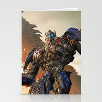 optimus prime Stationery Cards featuring Optimus Prime by Tom Lee