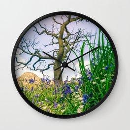 Amongst the Dusty Bluebells Wall Clock