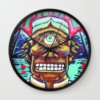 cyclops Wall Clocks featuring CYCLOPS by M. Ali Kahn