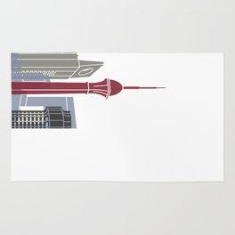 Jeddah skyline poster Rug