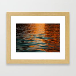 Lake Powell Fire Water Framed Art Print