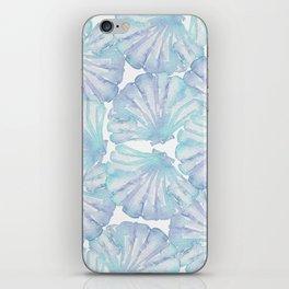 Shell Ya Later - Turquoise Seashell Pattern iPhone Skin