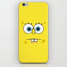 Spongebob Surprised Face iPhone & iPod Skin