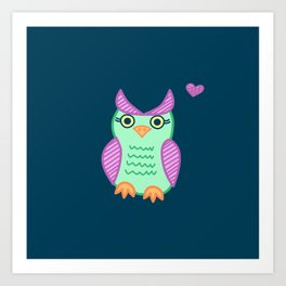 I heart owls. Art Print