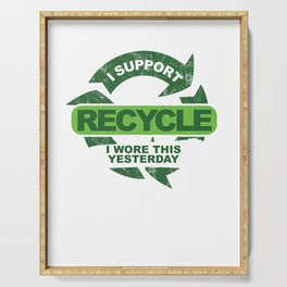 Recylce Support Recycling Serving Tray