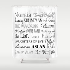 Childrens Graphicdesign And Typography Shower Curtains Society - Shower curtain with words