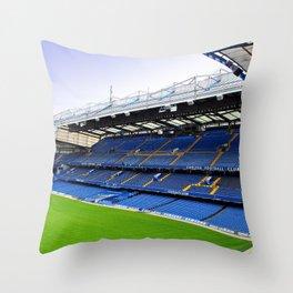 Stamford Bridge East Stand Chelsea Throw Pillow
