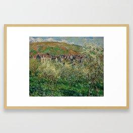 Plum Trees in Blossom Framed Art Print