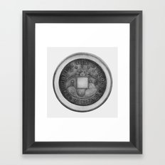 Moby Coin Framed Art Print