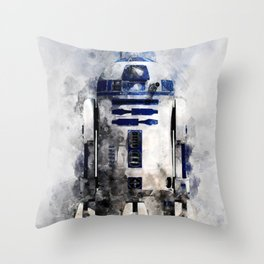 droid in space Throw Pillow