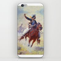 cowboy iPhone & iPod Skins featuring Cowboy by Lily Snodgrass