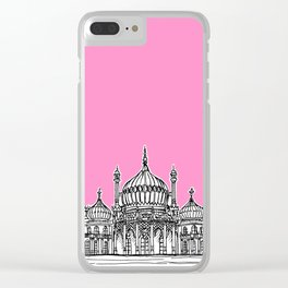 Brighton Royal Pavilion Facade ( pink version ) Clear iPhone Case