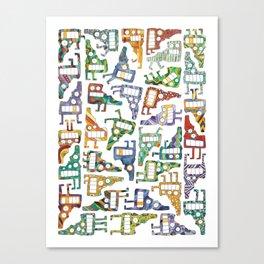 Idaho Tetris Painting Canvas Print