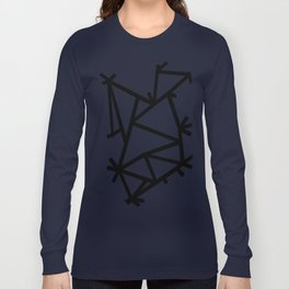 Ab Marble Zoom Black Long Sleeve T-shirt