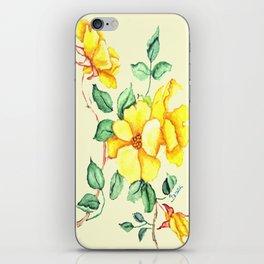 YELLOW FLOWER ON CREAM iPhone Skin