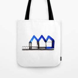 Houses in Blue No.: 02 Tote Bag