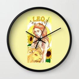 Leo - Art Nouveau Zodiac Wall Clock