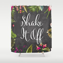 Shake If Off Vintage Flower Design Art Print Shower Curtain
