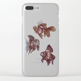 pez // pastel swimming or floating goldfish Clear iPhone Case