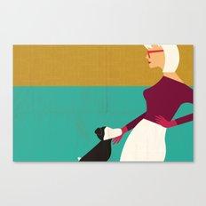Retro Dog Mom Canvas Print
