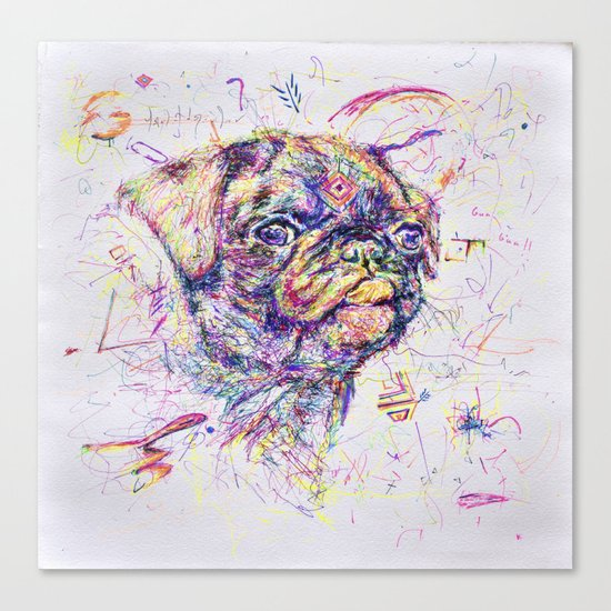 Pug Dog // Pugression Canvas Print
