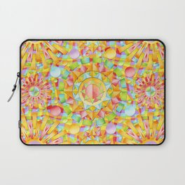 Circus Rainbow Mandala Laptop Sleeve