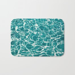 Turquoise Poolside Reflections Bath Mat