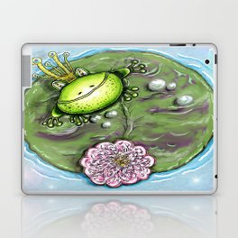 Frog Prince on His Lily Pad Laptop & iPad Skin
