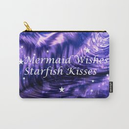 Mermaid Wishes Starfish Kisses Carry-All Pouch