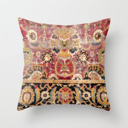 Esfahan Central Persian 17th Century Fragment Print Throw Pillow