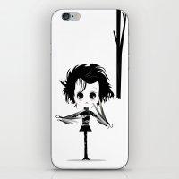 edward scissorhands iPhone & iPod Skins featuring EDWARD SCISSORHANDS by Raimondo Tafuri