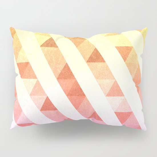 Triangles Lines Pattern Pillow Sham