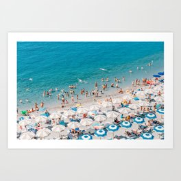 Amalfi Coast Beach Aerial Art Print