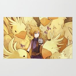 Cloud & Full Chocobo Rug