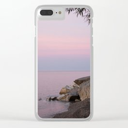 Lake Michigan Summer Golden Hour Sunset Pastel Water and Sky Southeast Wisconsin Clear iPhone Case