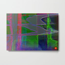 Qpop -Synthwave 1 Metal Print