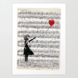The Banksy Ballon Girl Art Print