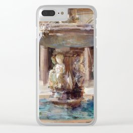 Cupid's Fountain Clear iPhone Case