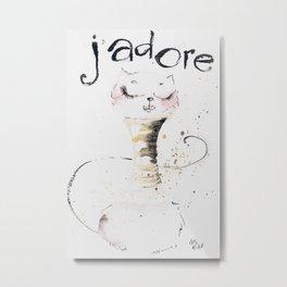 J`adore cat Metal Print