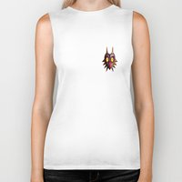 majoras mask Biker Tanks featuring Zelda Majora's mask by ezmaya