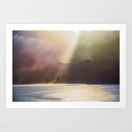 Napali Coast Sunset Art Print