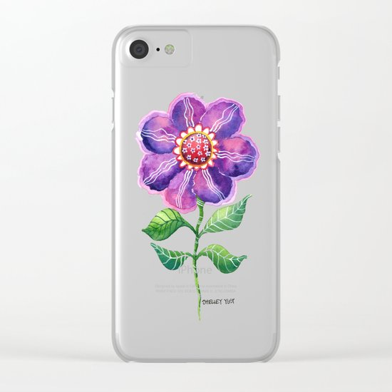 A Study in Violet Clear iPhone Case